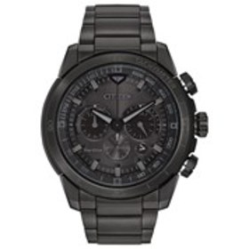 CITIZEN Citizen Eco-Drive Mens Textured Dial Black