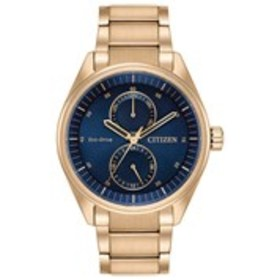 CITIZEN Citizen Eco-Drive Mens Navy Dial Rose Gold