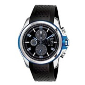 CITIZEN Citizen Eco-Drive Mens Black Dial Blue Chr