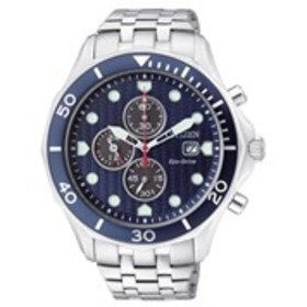 CITIZEN Citizen Eco-Drive Mens Textured Blue Dial