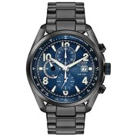 CITIZEN Citizen Eco-Drive Mens Blue Dial Black Sta