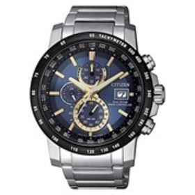 CITIZEN Citizen Eco-Drive Mens Blue Dial Radio Con