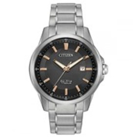 CITIZEN Citizen Eco-Drive Mens Textured Dial Titan