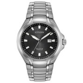 CITIZEN Citizen Eco-Drive Mens Textured Grey Dial