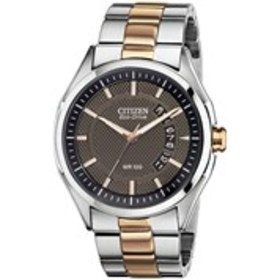 CITIZEN Citizen Eco-Drive Mens Textured Dial Two-T