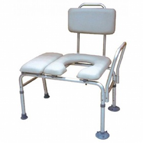 Drive Medical Padded Seat Transfer Bench with Comm
