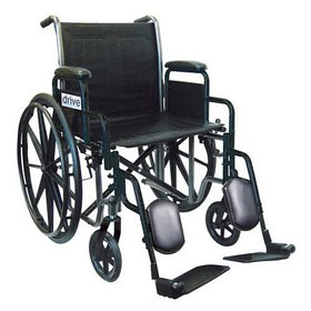 Drive Medical Silver Sport 2 Wheelchair with Detac