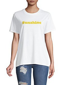 French Connection Graphic Cotton Tee GOLDEN OAK