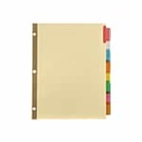 Staples Big Tab Insertable Paper Dividers, 8-Tab,