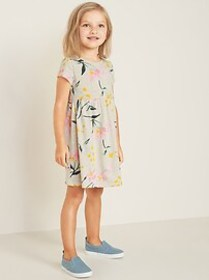 Floral-Print Jersey Fit & Flare Dress for Toddler