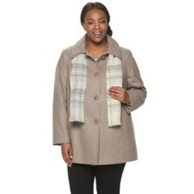 Plus Size TOWER by London Fog Scarf & Wool-Blend C