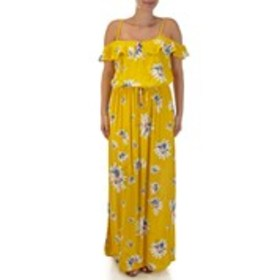 AS YOU WISH Junior Floral Cold Shoulder Maxi Dress