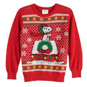 Boys 4-12 Jumping Beans® Peanuts Snoopy Holiday Sw