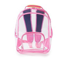 Pottery Barn Casey Pink Clear Kids' Backpack by Ma