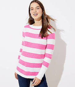 Stripe Textured Shirttail Sweater