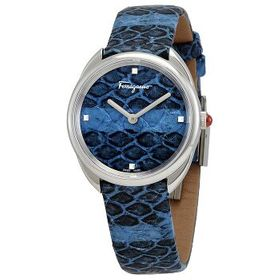 FerragamoCuir Blue Elaphe Dial Ladies Watch