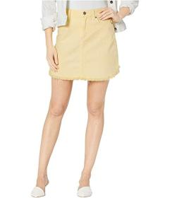 Paige Aideen High-Rise Skirt w\u002F Curved Fray H