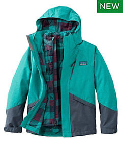 LL Bean Kids' All-Season 3-in-1 Jacket, Colorblock