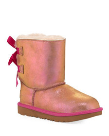 UGG Bailey Bow II Shimmer Suede Boots, Kids