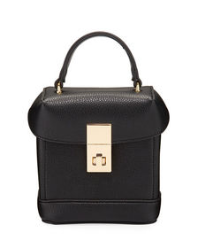Neiman Marcus Pebbled Faux-Leather Camera Bag