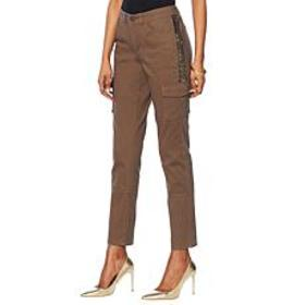 """""""As Is"""" G by Giuliana Embellished Cargo Pant"""