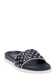 Valentino Free Leather Rockstud Quilted Slide