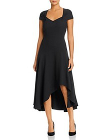 Elie Tahari - Phoenix Crepe Asymmetric-Hem Dress