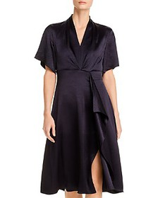 Elie Tahari - Shiran Satin Faux-Wrap Dress