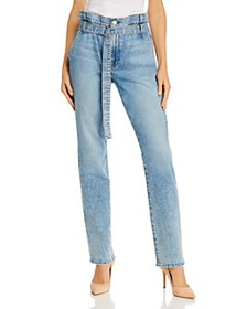 7 For All Mankind - Paper-Bag-Waist Straight Jeans