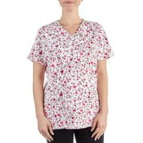 NURSEMATES Printed Stretch Scrub Top
