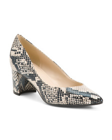MARC FISHER Snake Pointy Toe Pumps