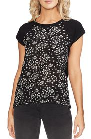 Vince Camuto Scattered Floral Stamp Mix Top