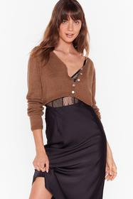 Nasty Gal Rust To Be or Knit to Be Cropped Cardiga