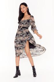Nasty Gal Black Growing in the Right Direction Flo