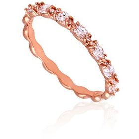 SwarovskiVittore Marquise Rose Gold Plated Ring- S