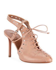 ALAIA Lace-Up Slingback Pumps