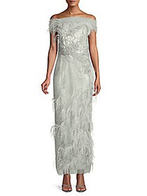 Embroidered Tulle Gown OPAL