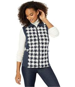 Jones New York Quilted Printed Sweater Vest