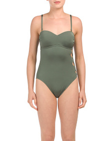 KENNETH COLE Solid Cutout One-piece Swimsuit
