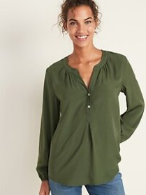 Relaxed Popover Blouse for Women