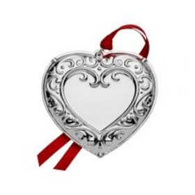 Mikasa 2019 Silver Plated Engraveable Heart Orname