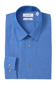 Calvin Klein Solid Slim Fit Stretch Dress Shirt