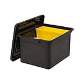 Staples Plastic File Box, Letter/Legal Size, Black