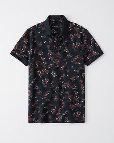 Pattern Polo, NAVY BLUE FLORAL