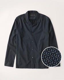 Resort Collar RSVP Shirt, NAVY BLUE PRINT