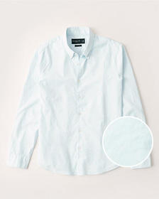 Super Slim Poplin Shirt, LIGHT BLUE