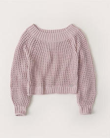 Chenille Slouchy Sweater, LIGHT PURPLE