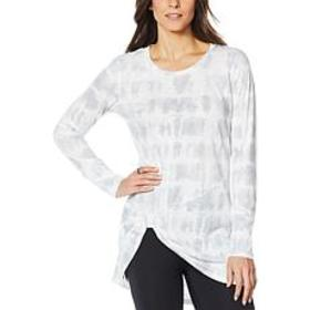 """""""As Is"""" G by Giuliana Slub Knit Knot-Front Tunic"""
