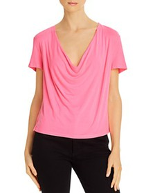 Alice and Olivia - Ansel Cowl-Neck Tee