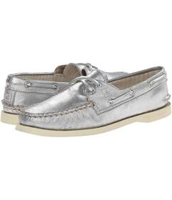 Sperry A\u002FO 2-Eye Metallic Kid Suede